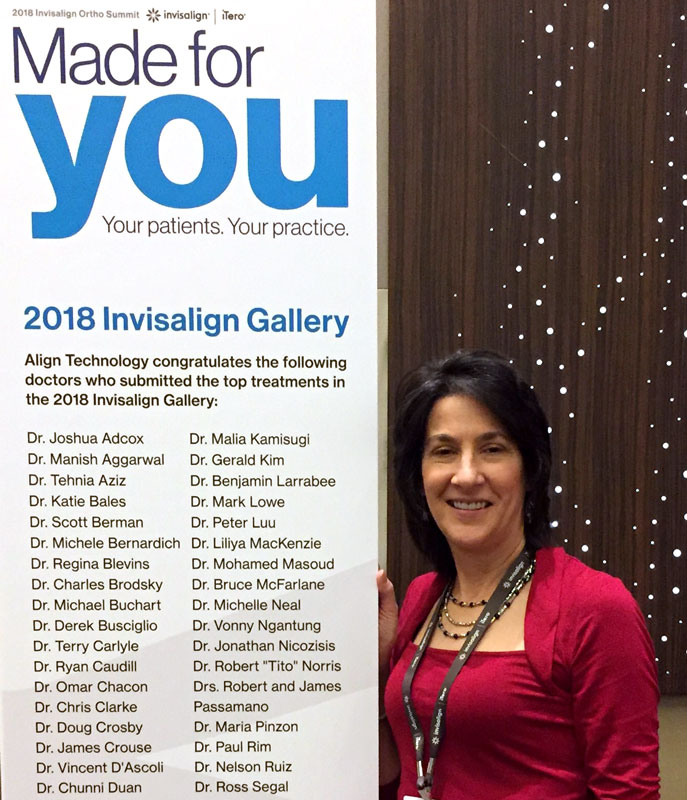 Board certified Lehigh Valley orthodontist Dr. Michele Bernardich at the 2018 Invisalign Summit.